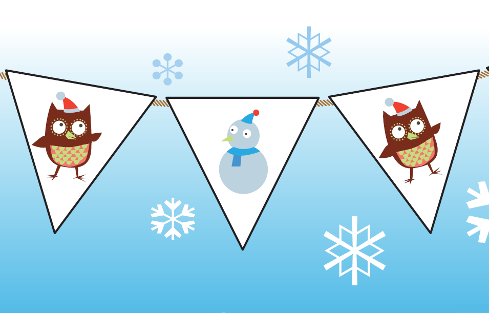 Share a story this christmas Make your own christmas bunting