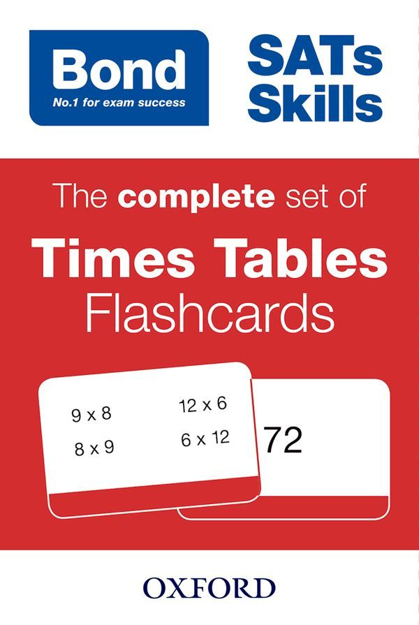 Bond Times Tables Flashcards
