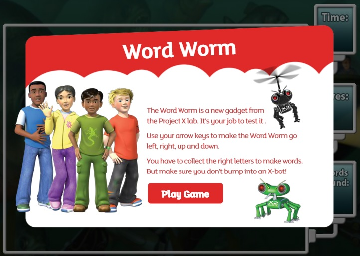 Word worm game