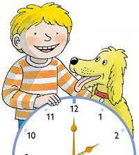 Kipper and Floppy learn to tell the time