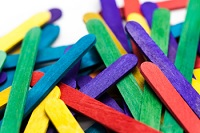 coloured popsicle sticks