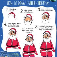 Draw Father Christmas
