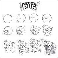 Draw a pug