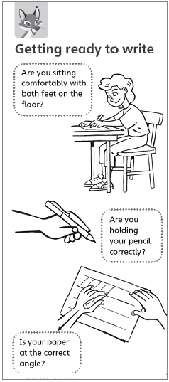 Holding your pen correctly: the tripod grip for left-handers