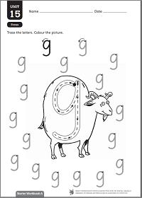 Letter 'g' practice