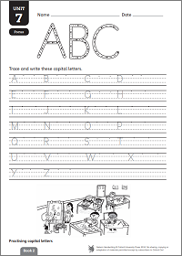 Practise capital letters