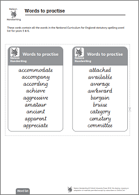 Practise cards (ages 9 – 11)