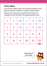 Times table activities | Oxford Owl