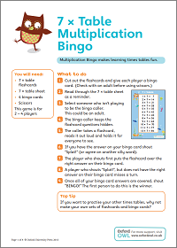 photograph relating to Multiplication Bingo Printable identify 7 × Desk Multiplication Bingo