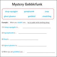 Mystery gobblefunk challenge