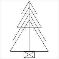 Christmas tree triangle puzzle