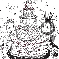 Isadora Moon Colouring In Oxford Owl