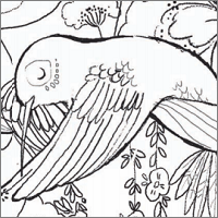 Magical Kingdom of Birds colouring in